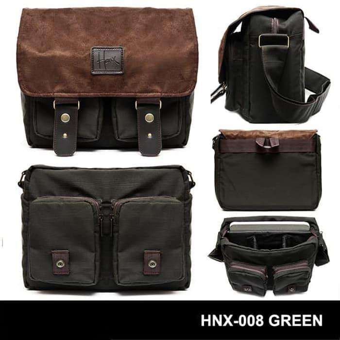 Tas Kamera / Messenger Camera Bag / Sling bag HONX 008 GREEN Terlaris di Lazada