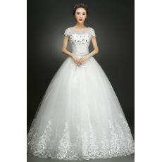 Menyentuh tanah gaun resepsi gaun pengantin pengantin wanita Gaun pengantin 2018 model baru Terlihat Langsing membentuk