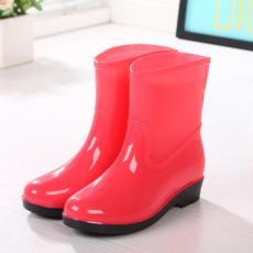 2017 model baru sepatu boots hujan wanita rendah Tabung modis Tambah beludru Anti Selip sepatu anti