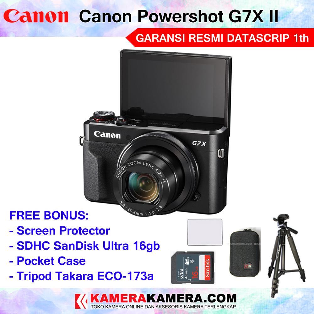 Kamera Pocket Canon Powershot Sx60 Hs Garansi 1 Tahun G7x Mark Ii Wifi 20mp Tilting Lcd Touchscreen Resmi Datascrip 1th