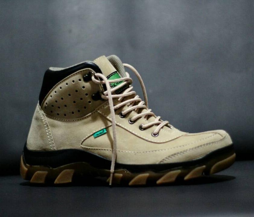 Sepatu Boots Safety Gaya Prua Sneakers Kasual Touring Gunung Kerja Pormal Kantoran Vans Converse Pantofel Caterpillar Abu Abu