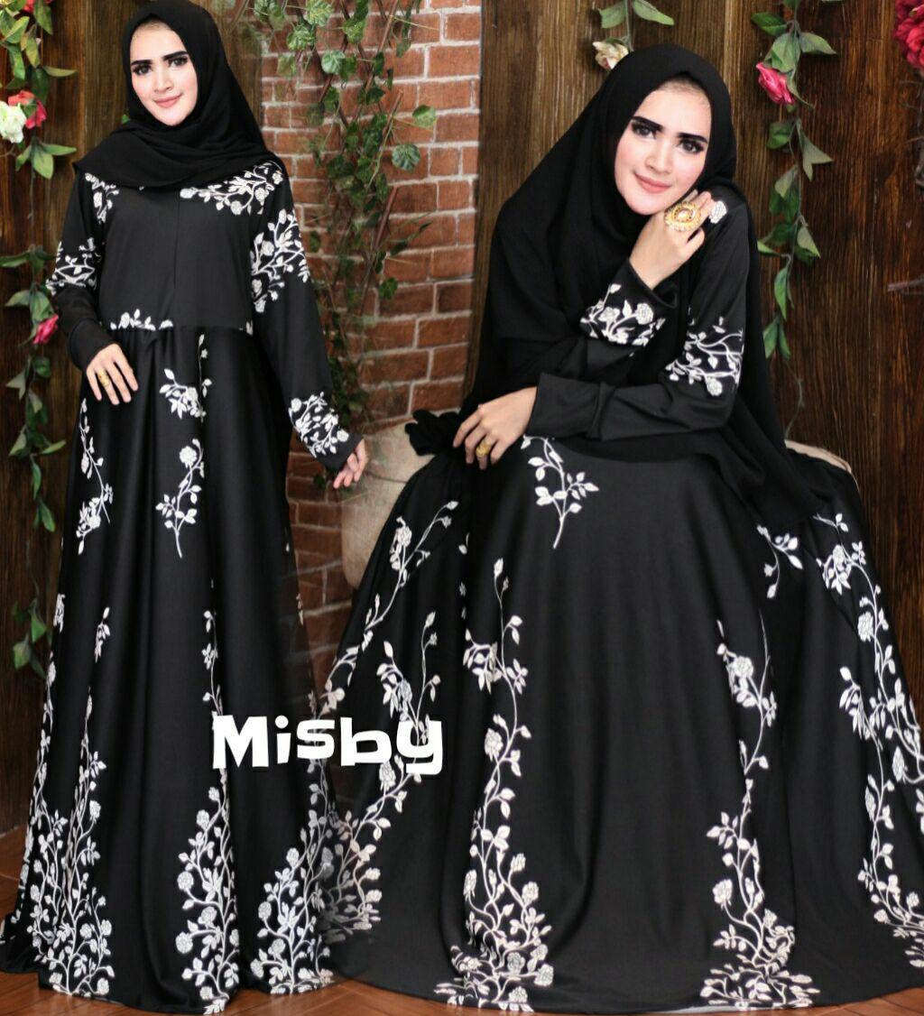 Nurulcollection Baju wanita muslim Dress gaun Gamis syari murah/Gamis motif/Gamis jumbo/Gamis busui/Gamis klok empat meter/Gamis terbaru