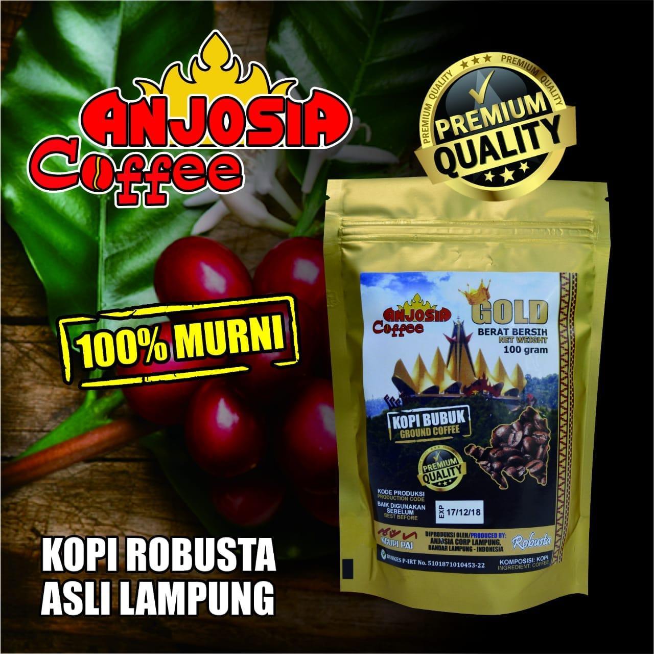 Kopi Lampung Cap Anjosia Gold Robusta Kopi Bubuk 100 Gram - Premium Quality