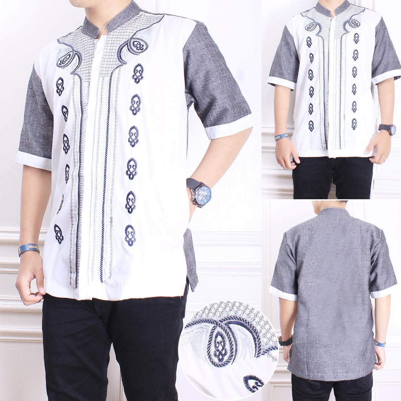 Jual Baju Muslim Pria Tebaru Kemeja Batik Hem Cowok Btk168 168 Collection Koko Mileno Lengan Pendek