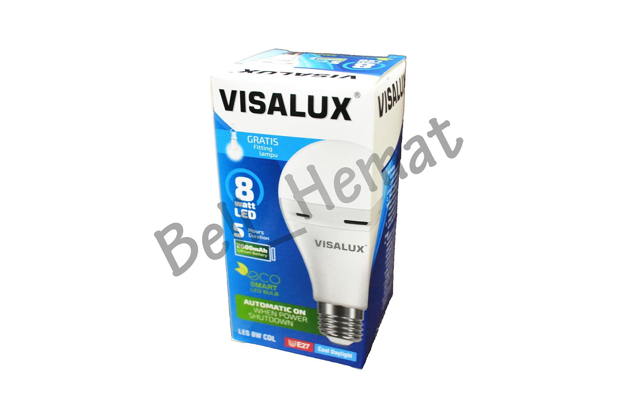 Lampu VISALUX Emergency LED Smart LES 8W E27 CDL