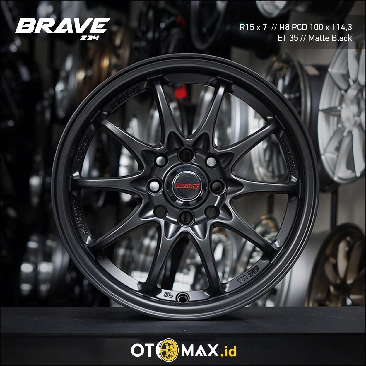 Velg Mobil Brave (234) Ring 15 Matte Black