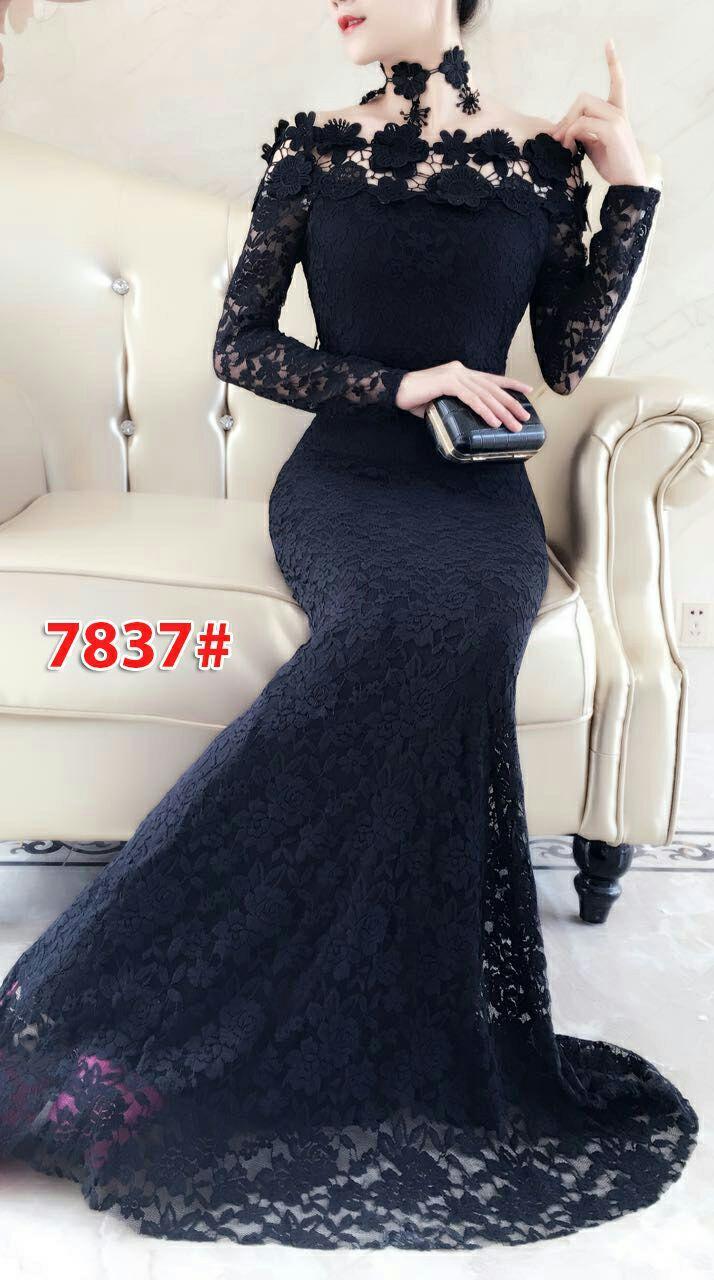 7837# baju pesta import  / gaun pesta import / baju pesta brokat / longdress fashion import / gaunp