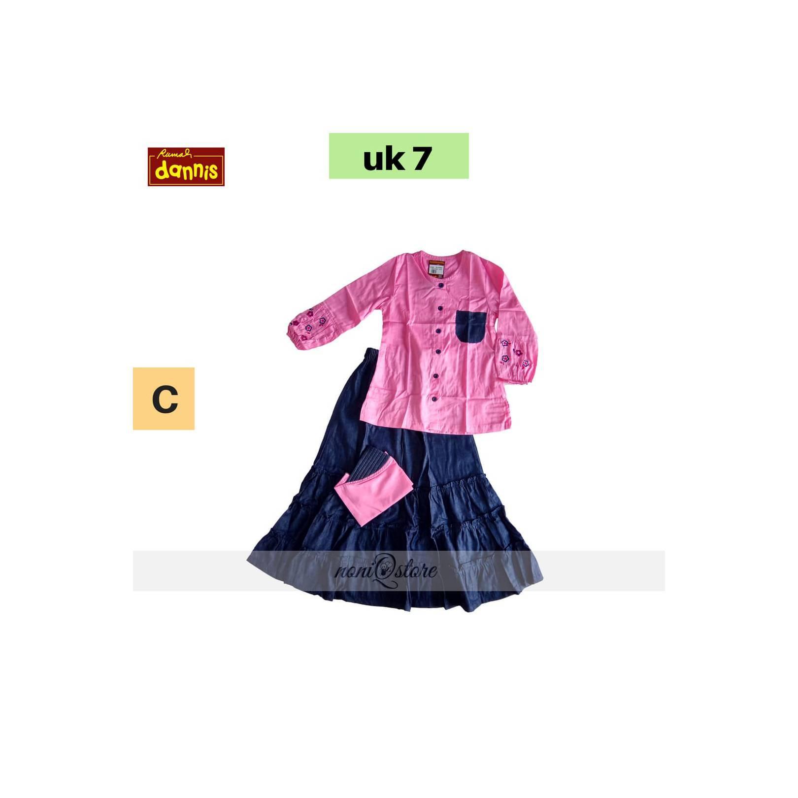 Setelan Anak DANNIS size 7 - Gamis / Jubah - Baju Muslim Premium