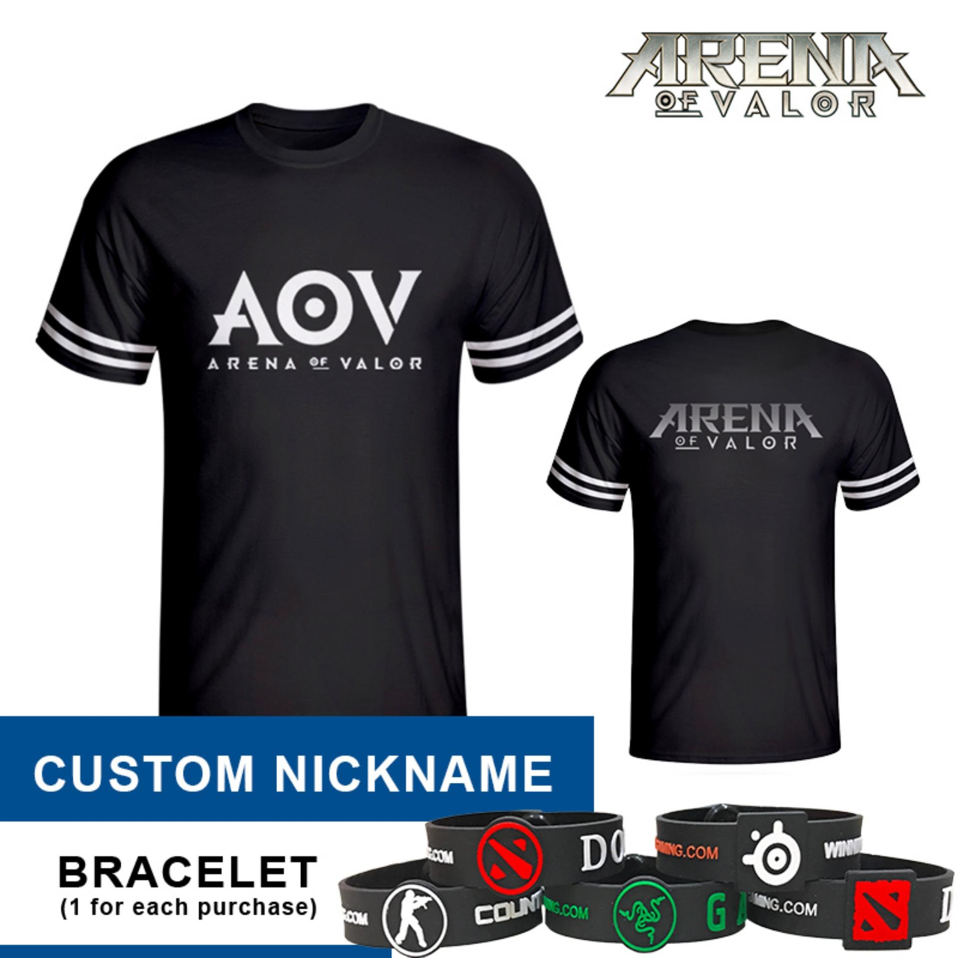 Tshirt Arena Of Valor Black Aov Custom Nickname