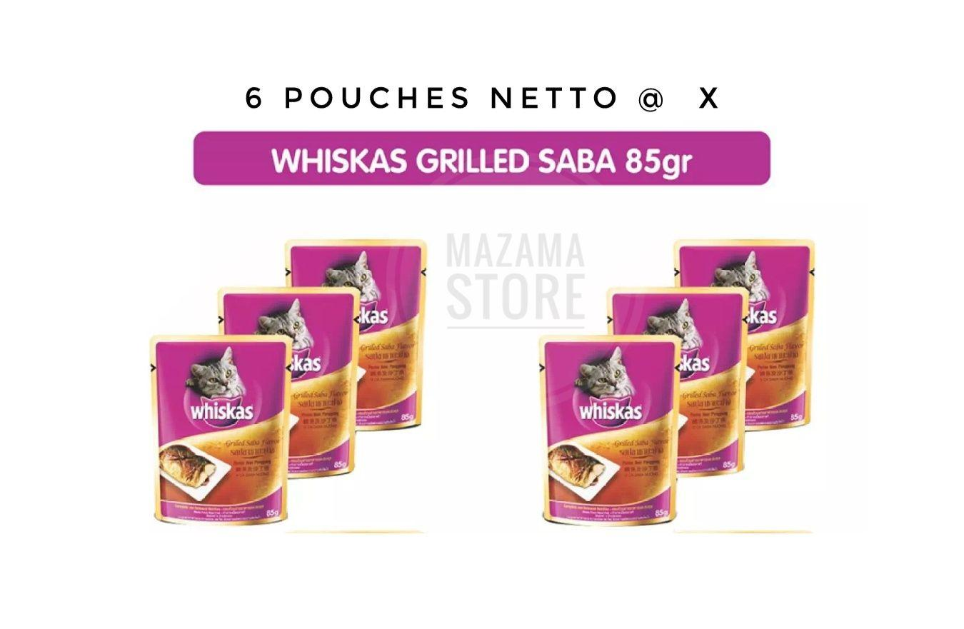 Buy Sell Cheapest Whiskas Wet Food Best Quality Product Deals Makanan Anak Kucing Junior 85 Gram 6 Pouch Basah Untuk In Jelly With Grilled Saba Cat Netto Gr Adult Dewasa