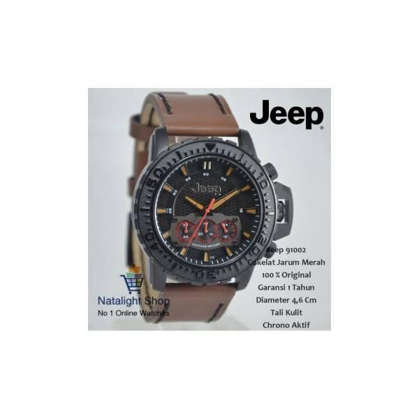 Jam Tangan Pria Jeep 91002 Kulit Elegan Mewah 100 % Original