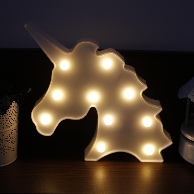 Paroparoshop Lampu Tidur Karakter Lampu Meja Hias LED UNICORN LAMP