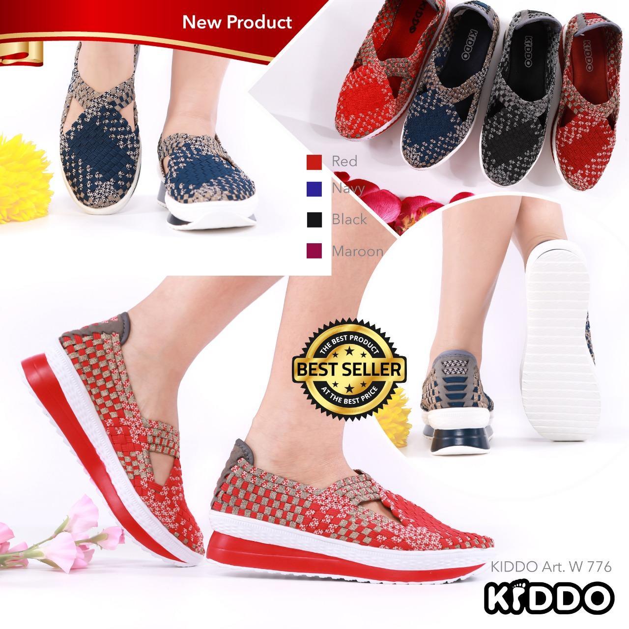 New Sepatu Anyam Kiddo Wedges Type 168 1 Daftar Harga Terbaru Dan Rajut Flat Include Box Semua Tipe Anyaman Wanita W776
