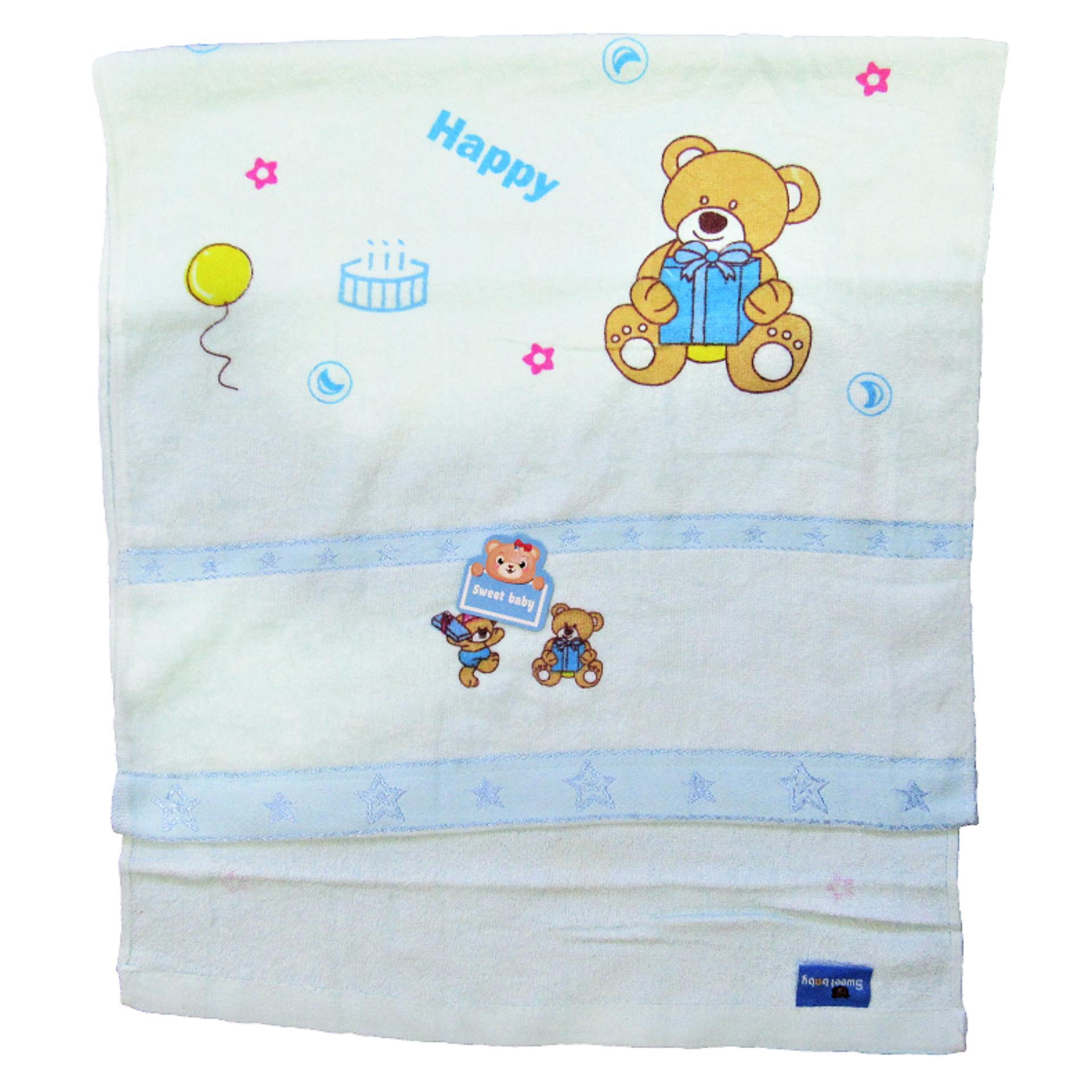 Wulanda handuk mandi bayi warna ukuran 50 X 100 cm