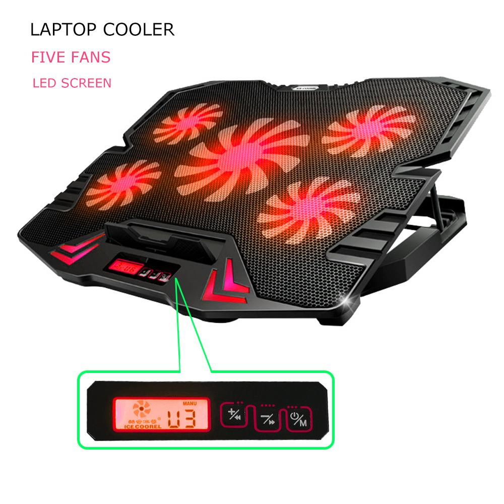 CoolingPad Fan Cooling Cooler Pad 5 Kipas Pendingin Notebook Laptop 5 Fan