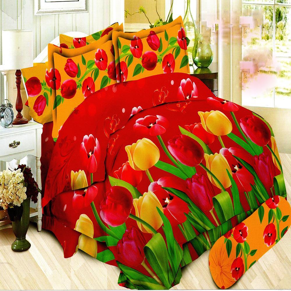 Bonita Bedcover King 3D Motif Beauty Tulip 180x200 cm