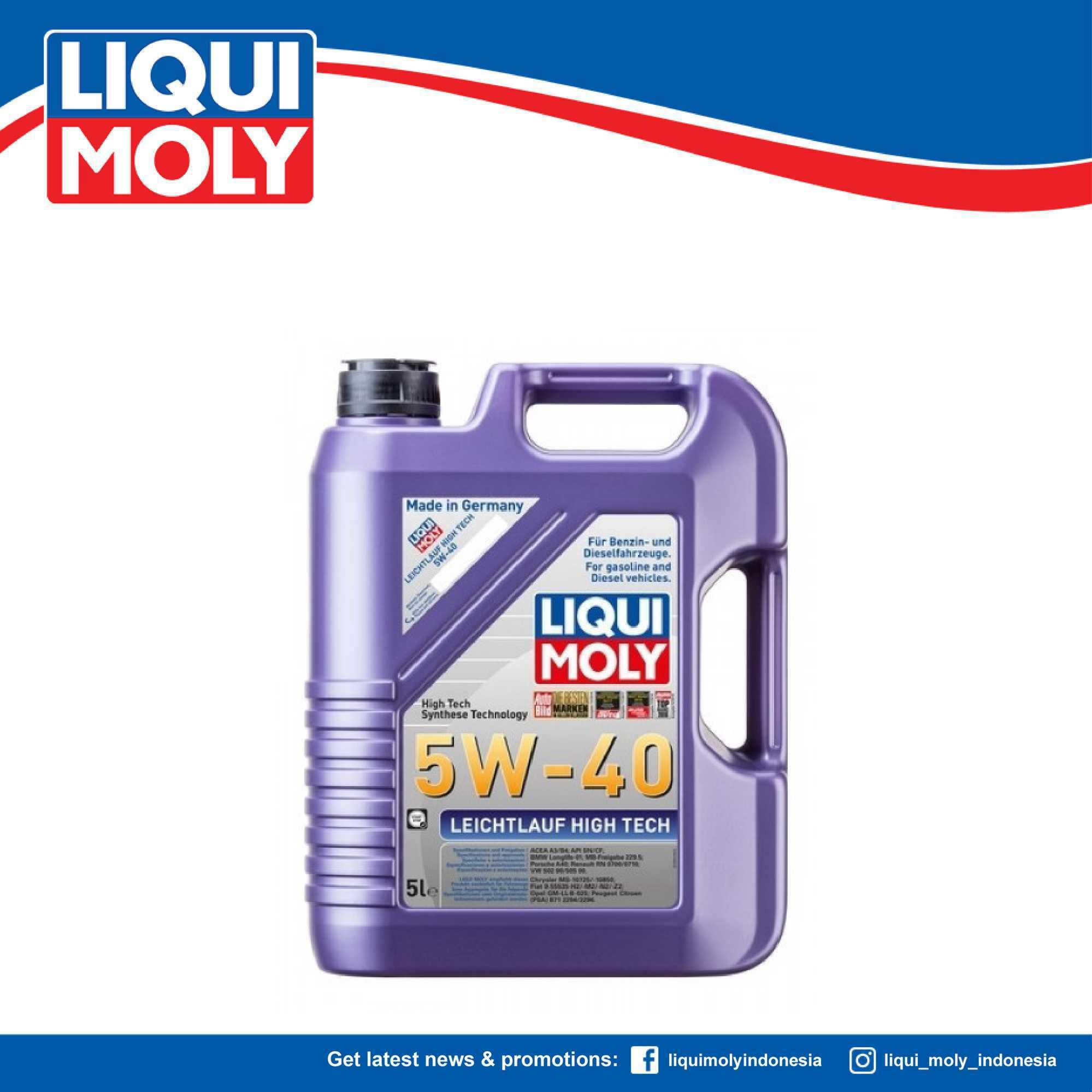 Liqui Moly Leichtlauf High Tech 5W40 Engine Oil 5L - Oli Mobil 2328