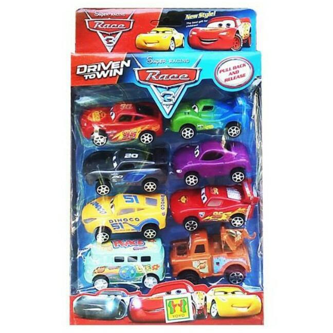 [0960030326] SUPER RACING RACE CARS ISI 8 MAINAN ANAK