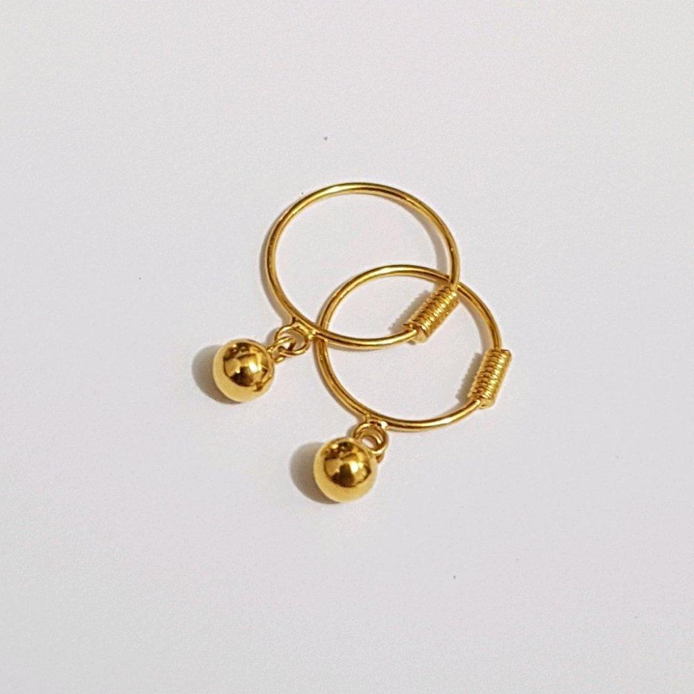 Anting Anak Emas Asli Kadar 700 Anting Merica Perhiasan Emas Anak Gold Earrings