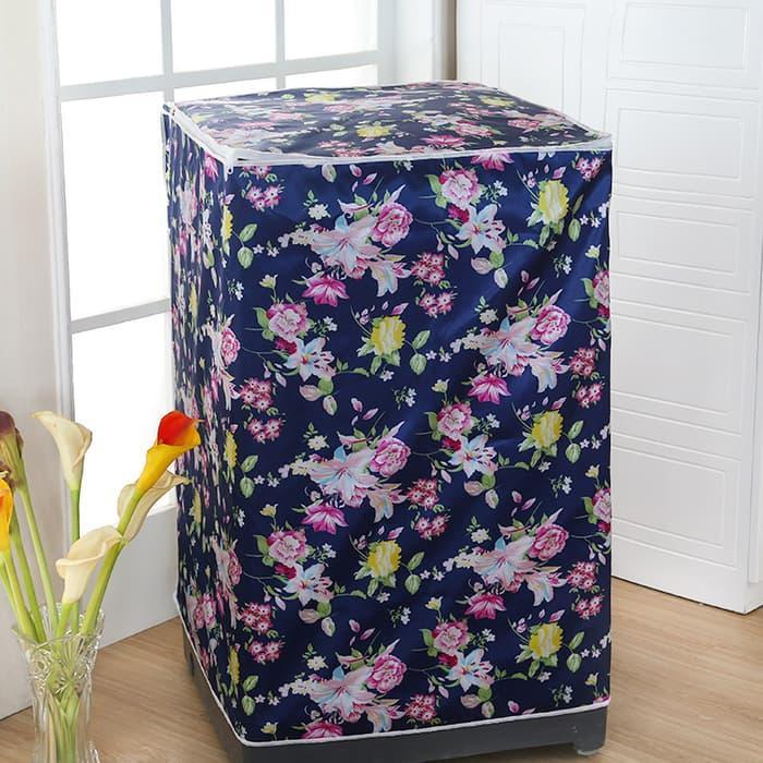 Cover Mesin Cuci 1 Tabung Buka Atas (Size : 55 x 58 x 87 cm) - NAVYFLOWER