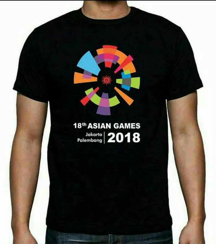 PALING LARIS KAOS SHIRT ASIAN GAMES JAKARTA PALEMBANG 2018 COMBED DISTRO