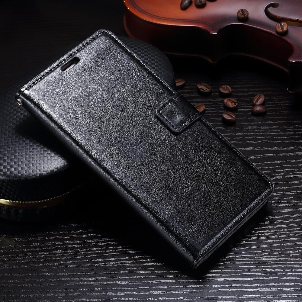 FLIP COVER WALLET Vivo Y71 Leather Case Kulit Dompet Casing Retro Vintage Premium Kick Stand Magnetic Lock