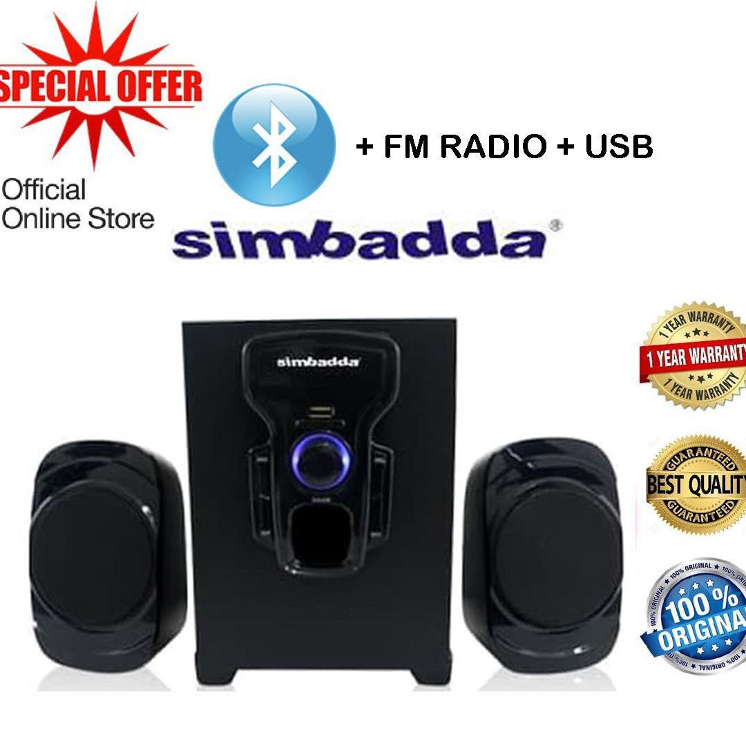 Simbadda Speaker 2.1 Music Player CST 2000N+,  Bluetooth, USB, SD Card, Radio FM, Aux 3.5mm - Hitam