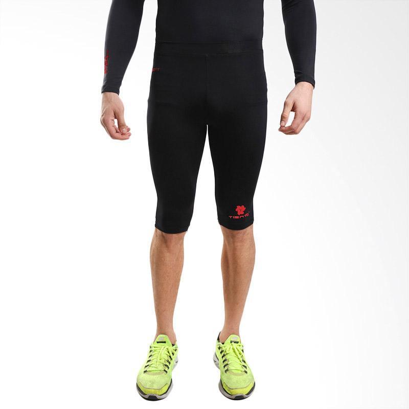 Tiento Baselayer Half Pants Black Celana Selutut Ketat Leging Legging Compression Olahraga Sport Lari Senam Zumba Yoga Running Futsal Sepakbola Renang Diving Voli Sepeda Original