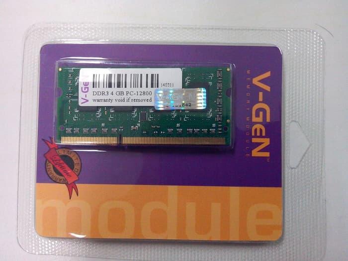 SALE - Memory RAM V-Gen DDR3 4GB PC-12800/1600 So-Dimm (Untuk Laptop)