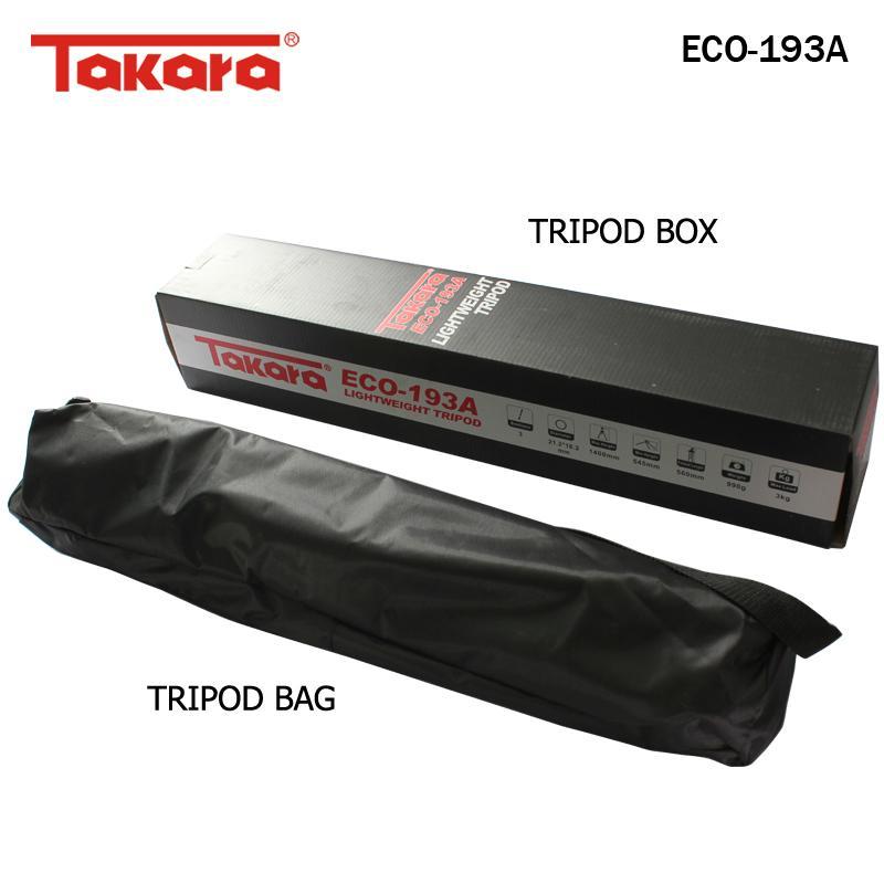Takara Tripod ECO-193A with Pouch/Tas untuk DSLR Miroles Pocket Gopro,  Xiaomi Yi
