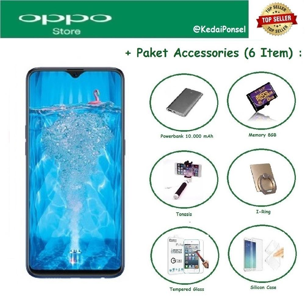 OPPO F9 [4/64GB] + 6 Item Accessories