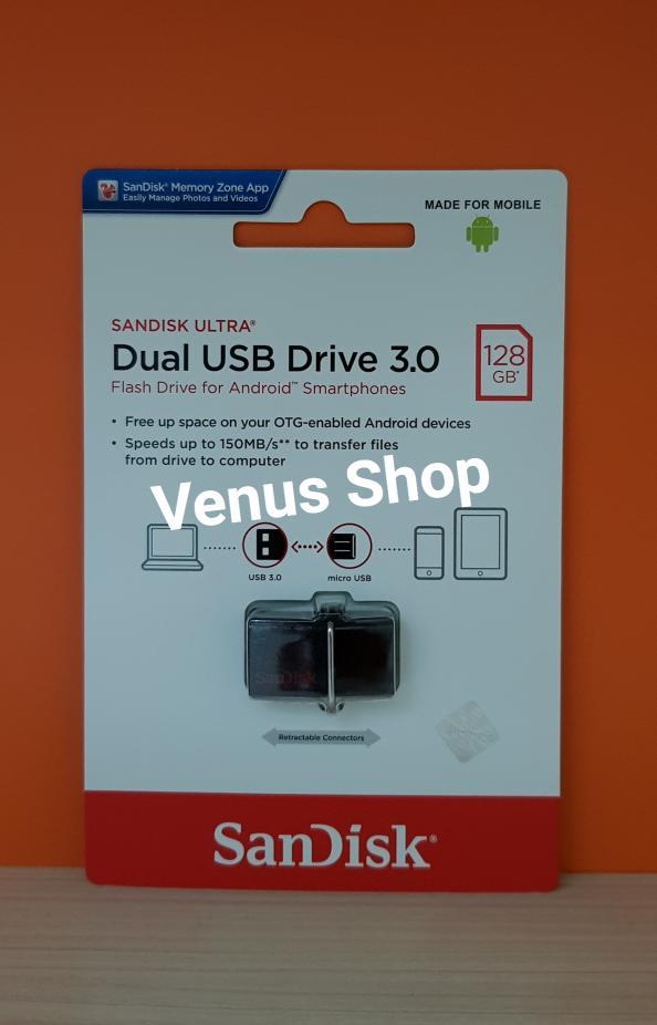 SALE - SANDISK FLASHDISK OTG 128GB 150MBPS USB 3.0 / OTG 128 GB 150 MB/S ORI Original