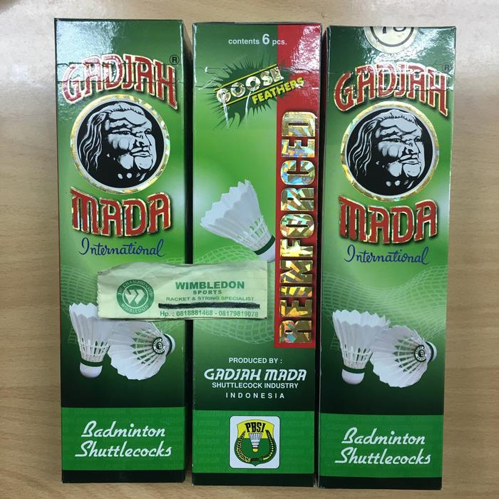 HARGA SPESIAL!!! Kok Gajah Mada Spesial Hijau Bulu Angsa / Shuttlecocks Gajah Mada Ijo - aw9ecA