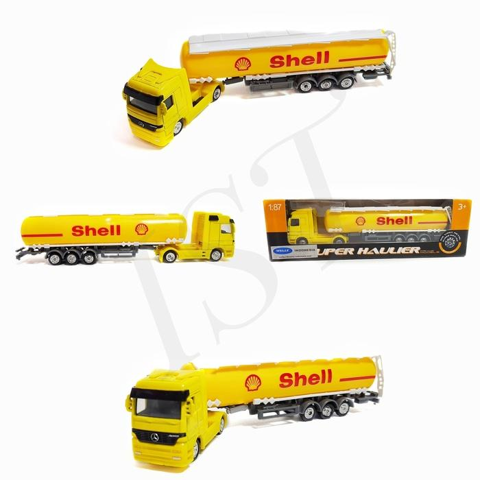 Diecast Miniatur Replika Welly Truck Tanki Shell