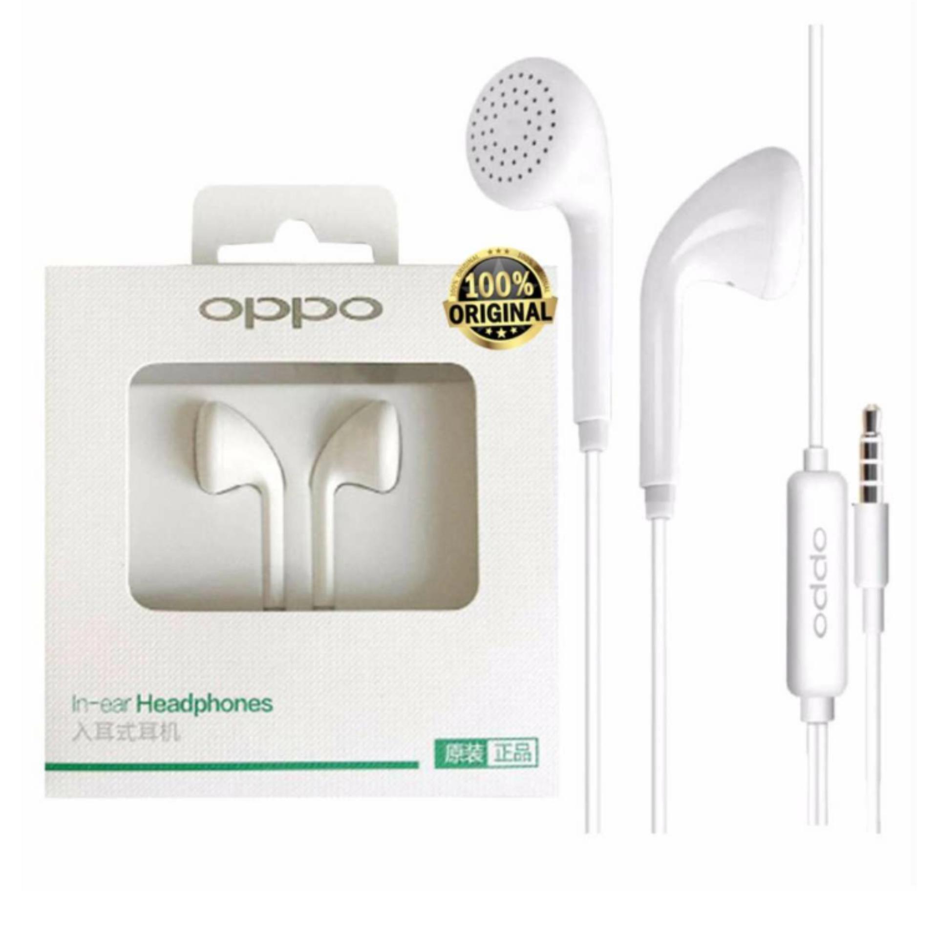 headset oppo stereo Oppo Headset / Handsfree MH133 f7 a3s f1s ori R9 R9plus Original - Putih