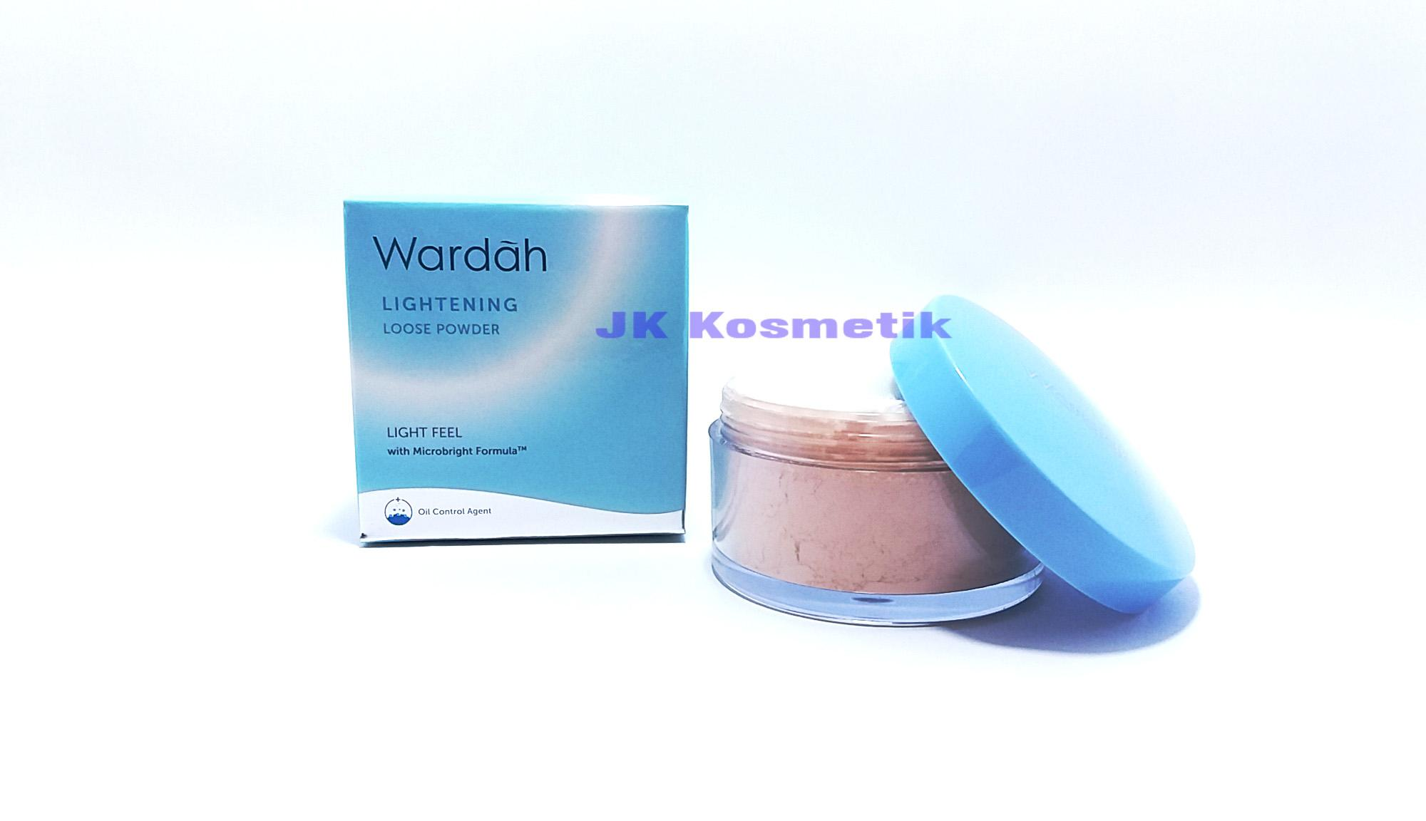 Wardah Lightening Bedak Tabur Loose Powder 01 Light Beige Light Feel