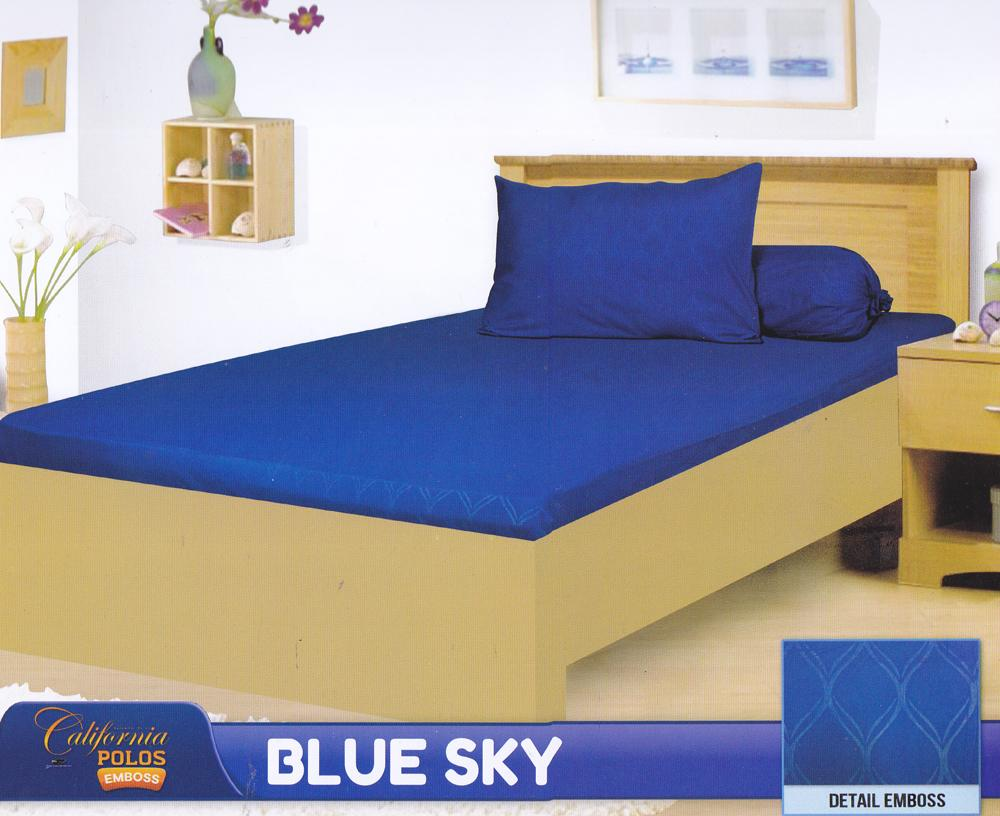 Buy Sell Cheapest California Sprei Set Best Quality Product Deals Seprei Bedcover Microtex 120x200cm Abu Polos Blue Sky Single 120x200x20cm 1 Bantal Guling