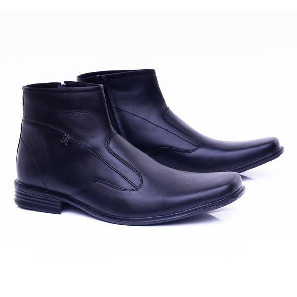 GARUCCI Sepatu Pantofel Pria - Bahan Leather Murah & Berkualitas (Hitam) GHD 0411