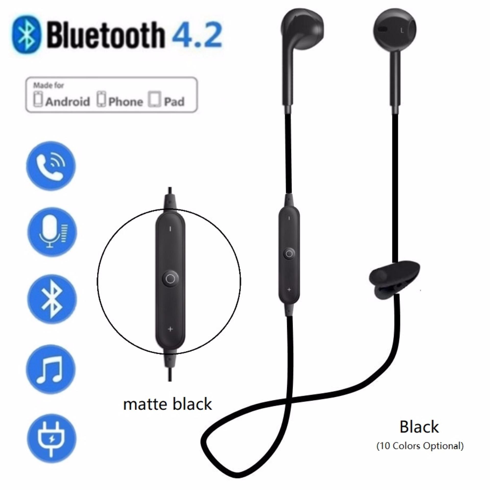 Baru Uniseks Nirkabel Bluetooth Stereo Olahraga Headset Penyumbat Telinga Earphone S Di Telinga Pintar Stereo Musik