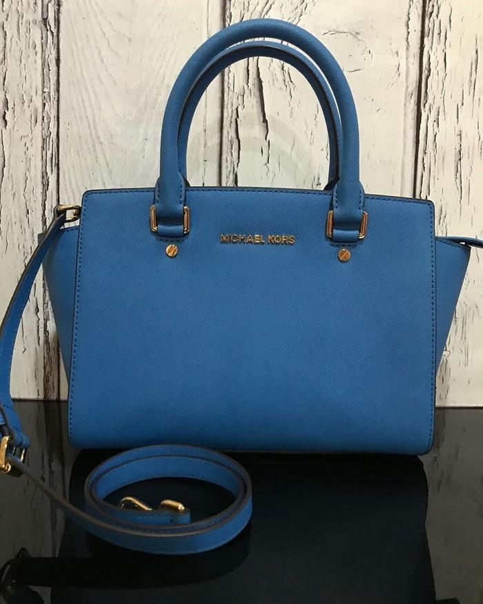 Tas michael kors original - Mk selma medium heritage blue