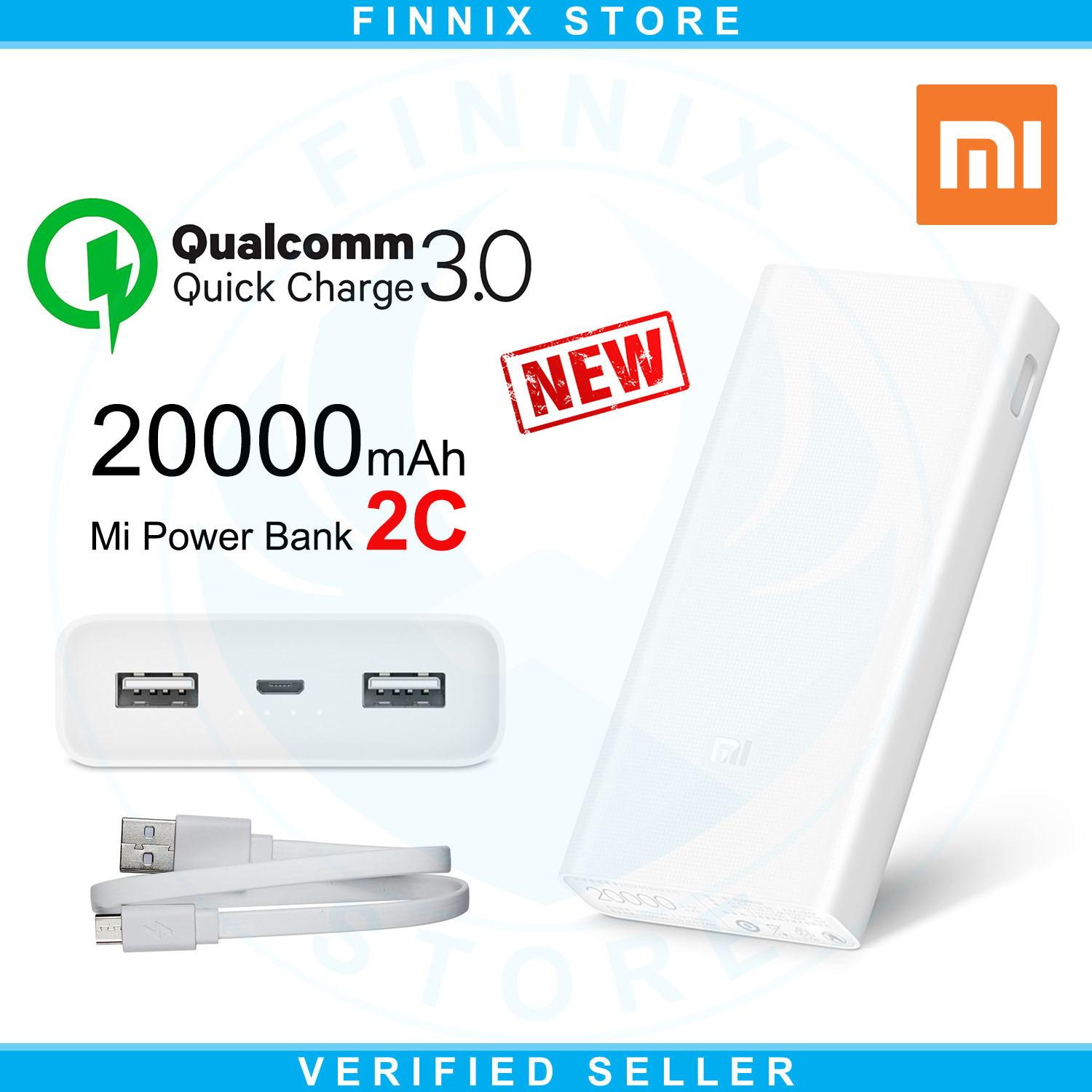 Xiaomi Mi Power Bank 20000mAh 2C Two-way Quick Charge 3.0  (New) - White