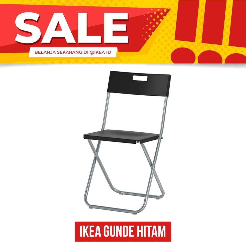 IKEA GUNDE Kursi Lipat- Hitam NEW