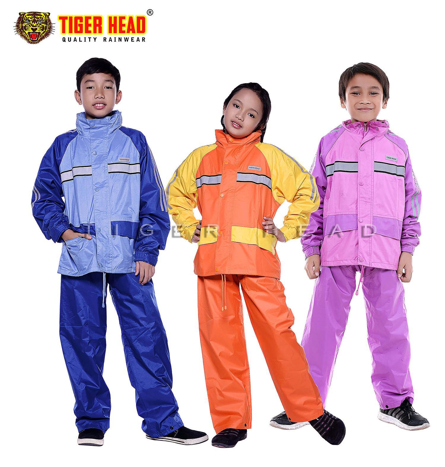 Tiger Head Jas Hujan Stelan Metro Kids 2 Rangkap Seperti Jaket - Bahan Seperti Jas hujan