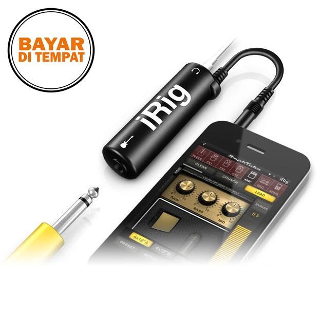 Rimas iRig AmpliTube Guitar Interface Adapter iPhone iPod Touch iPad - Black / Hitam - Gitar Amplifier Unik Berkualitas
