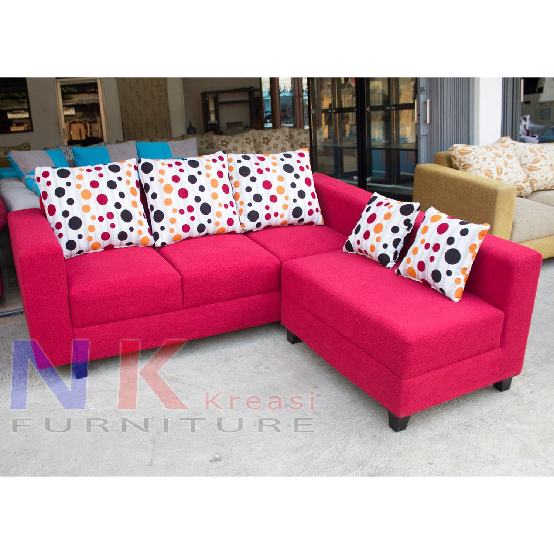 Sofa Kursi Ruang Tamu L Minimalis mewah, sofa sudut modern + MEJA TAMU - JABODETABEK ONLY