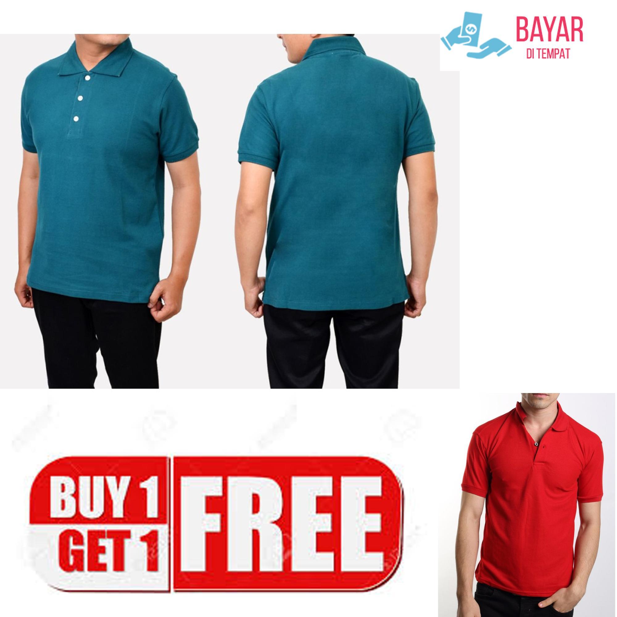 Jayasinar/Baju Polos Pria/Polo Shirt Pria/Fashion Pria/Buy 1 Get 1/Baju Kaos Model Terbaru Murah