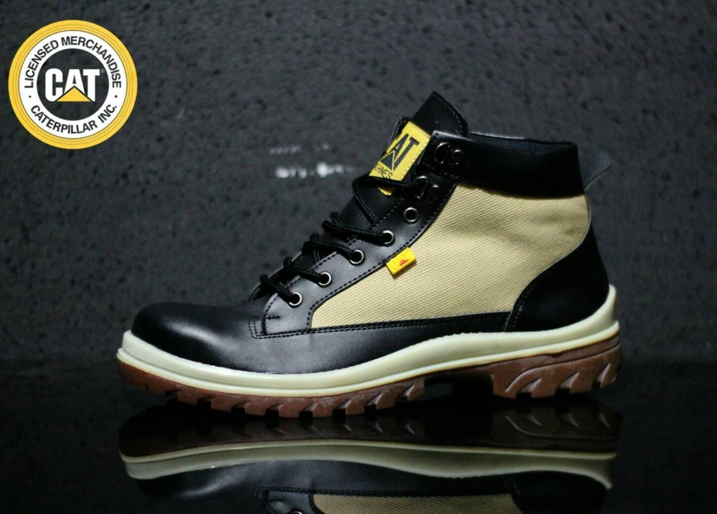 Sepatu Boots Safety Gaya Pria Sneakers Kerja Kantoran Pormal Touring Sport Sekolah Kuliahan Vans Converse Pantofel Hitam