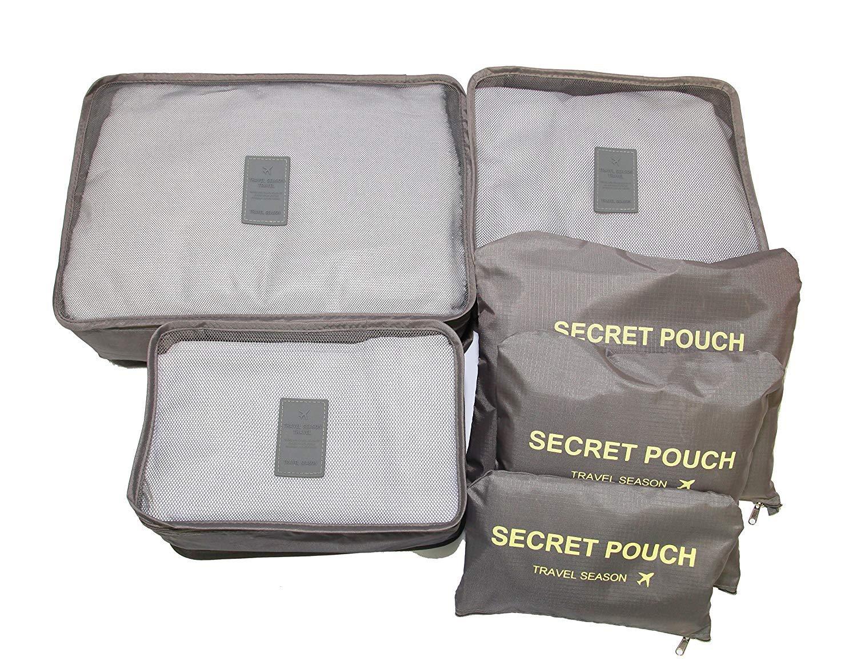 EDW 016 Travel 6 in 1 Bag Set in Pouch Organizer Tas Baju Koper travel bag