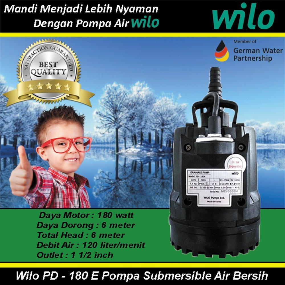 Buy Sell Cheapest Wilo Pompa Air Best Quality Product Deals Mhi 203e Multistage Stainless Steel Water Pump Pd 180 E Submersible Bersih