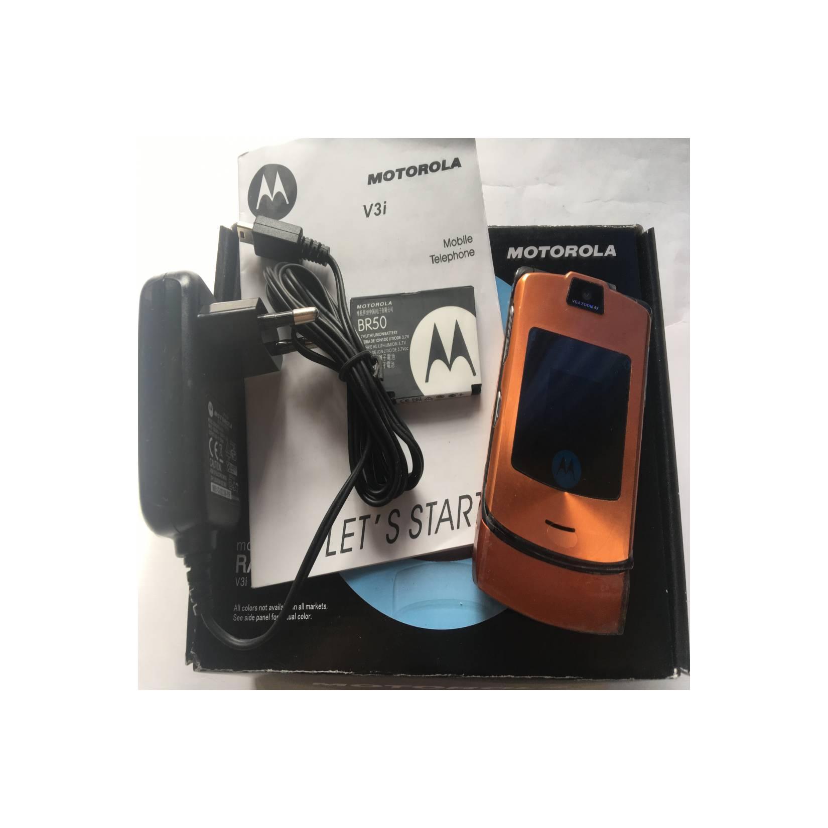 Motorola RAZR V3i Orange - HP Jadul Original